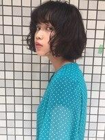 アリーズヘアー 青山(allys hair)切りっぱなしボブ◇モノトーングレージュ 【saori】