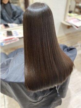 ヘアーアンドメイク リン(Hair&Make Rin)の写真/スコープでクセの原因を徹底分析♪1人1人にあった施術・薬剤・自宅のケアで理想のストレートに♪