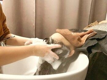 ジエクトヴィシア 心斎橋店(The Ect VIXIA)の写真/【心斎橋駅直結】美しい髪は土台から…美髪作りに欠かせない頭皮環境をしっかり整え、潤いのある地肌に。