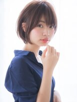 【aRietta】ハニーヘアマーメイドアッシュ斜めバング大人ボブ .