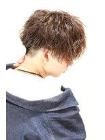リップスヘアー 銀座(LIPPS hair)無造作カリアゲ前下がり横顔が決まる 【ブラックブラスト】