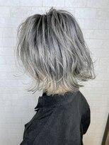 アルマヘア(Alma hair)ボブルフ☆シャドウルーツホワイトアッシュ