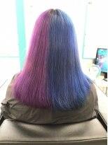 マーメイドヘアー(mermaid hair)パープルとブルーのハーフ&ハーフ!