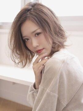 アグ ヘアー ドレス 喜久田店(Agu hair dress)ふんわり透明感の外ハネ×ミディ
