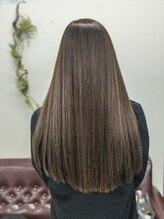 フェリース 蒲田店(Feliz hair design)パープルガーネット×憧れのサラツヤロング