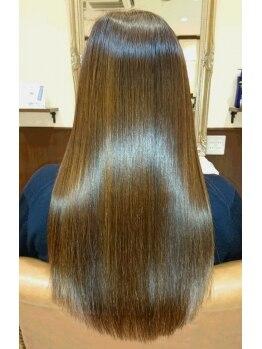 ヘアートップス hair top'sの写真/【縮毛矯正+カット+リタッチカラー¥10584】リーズナブルプライスで気軽に通いやすい♪クーポンも要Check☆