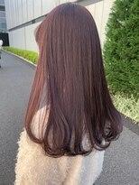 *ブリーチなし大人可愛いピンクベージュモテ髪ピンクブラウン
