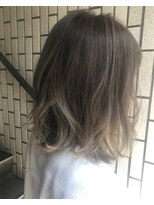 ヴィークス ヘア(vicus hair)夏ボブ×グレージュハイライト by 井上瑛絵