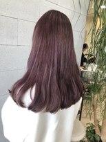 ヘアメイク アプト コンビネーション(HAIR MAKE apt combination)pink violet