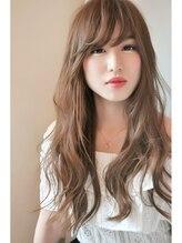 ロータスヘアーワークス(LOTUS hair works)抜け感ルーズカール☆ピンクローズベージュ