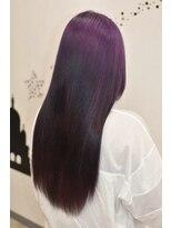ヘアーサロン エール 原宿(hair salon ailes)(ailes 原宿)style345 パープル☆(ストレート
