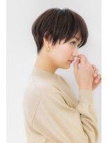 モード&クールな黒髪小顔マニッシュショートZ川口20代30代40代!