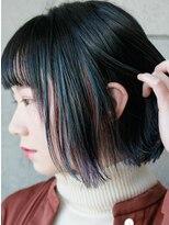 リリ バイ グランツ(LiLi by Glanz)3色インナーカラーの暗髪ボブ