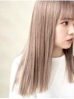 【Zina博多】髪質改善*まろみベージュ*ハイトーン艶カラー