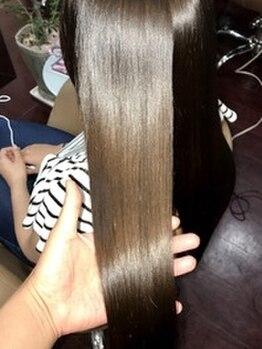 アクス(ACTSS)の写真/話題の[M3Dトリートメント縮毛矯正]髪内部に栄養を閉じ込め芯から潤いを与える。仕上がりに感動の嵐☆