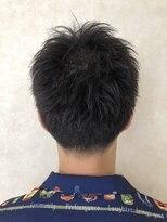 メンズ×黒髪×刈り上げ×ショート
