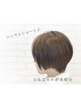 ビス ヘア アンド ビューティー 西新井店(Vis Hair&Beauty)アッシュベージュ×大人可愛いハンサムショート♪