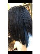 ヘアードレッサーズディレーヴ(Hairdresser'sDeReve)インナーカラー(ブルー)