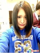 ヘアーメイク パチャラ 成増駅前店(Hair make PACHARA)☆前下がりボブディ☆ミルクティーカラー☆