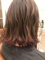 ヘアーサロン リアン 熊谷2号店(hair salon Rien)裾カラーピンク