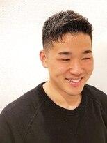 銀座マツナガ 浅草店Yahoo beautyアイロンパーマ人気上位 アップバングフェード黒髪