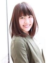 エピス 麻生1号店(epice)【ナチュラルな小顔ワンカールロブ】×【ノームコアカラー】