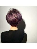 ヘアサロン レア(hair salon lea)【LEA赤羽山本】ヴァイオレットグレージュひし形シルエット