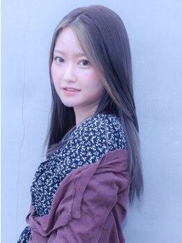 カノア(CANNOA.)の写真/ナチュラルで女性らしいうる艶なストレートヘア◇毛先まで滑らかな指通りにあなたもトリコ♪