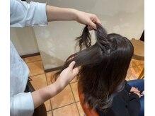 スタイリストによるカウンセリング・髪質診断