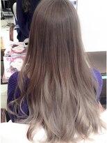 マーメイドアッシュインナーグラデーションカラー美肌ハニーヘア