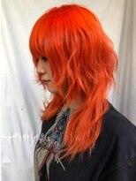 ミミック (mimic)伸ばしかけウルフマッシュ原色オレンジ