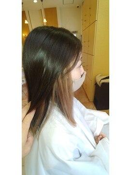 ヘアーアンドエステティック アイビジン 鈴鹿店(Hair&Esthetic I BiJiN)プルエクステインナーカラー風