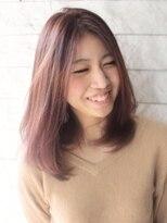 ヘアーデザイン スロープ 稲毛海岸店(Hair Design Slope)ピンクカラーナチュラルセミロング