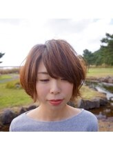 美容室ハナコ 外旭川店(Hanako)外ハネショートボブ