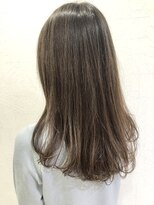 艶髪透明感ロング×ナチュラルハイライト×アッシュブラウン
