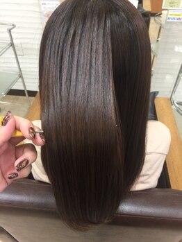クール ヘアリズム 上田店(COOL Hair rhythm)の写真/毛先までナチュラルな仕上がりに♪クセやうねりなどのお悩みも解決!憧れのさら艶ストレートヘアを実現☆