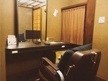 お客様の滞在場所の自慢のテレビ付きの個室☆通常の美容室の2倍以上の広さです!! 【GULGUL新小岩店】