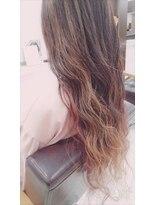 美容室 ボヌール【ボヌール】春色ピンクインナーカラー【ツヤカラー】