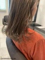 フローレス バイ ヘッドライト 三鷹店(hair flores by HEADLIGHT)セミディ×ワンカールウェーブ×トーンアップカラー