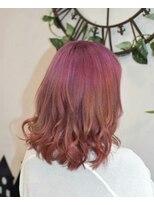 ヘアーサロン エール 原宿(hair salon ailes)(ailes 原宿)style347 シャインピンク☆ひし形シルエット