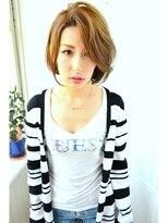 ヘア エスト 古賀店(HAIR EST)大人可愛い かきあげ バング 3D カラー