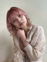 デコ(DECO)《RYUSEI》ハイトーン外ハネくびれミディ/ダブルカラー髪質改善
