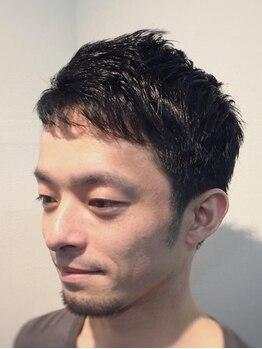37.0℃ ティダ 神保町店(37.0℃-tida)の写真/《カット+眉カット¥3900》印象を決める眉のお手入れもお任せ!髪だけでなく、トータルでデキる男に♪
