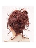 ヘアデザイン ダブル(hair design Double)ポニーテール風アップスタイル