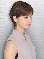 テラスラックスビー 阿倍野アポロ店(TERRACE LUXBE)大人かわいいモーブカラー小顔ショート