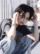 オーブ ヘアー マックイーン 流山店(AUBE HAIR McQueen)【AUBE HAIR】濡れ髪ウザバング_ハンサムショート