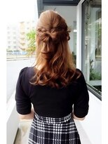 ヘアデザイン ダブル(hair design Double)編み込みリボン