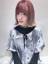 アリス ヘア デザイン(Alice Hair Design)Alice☆ピンクグラデーション×外ハネボブ