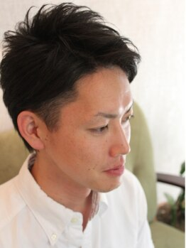 レンガ(renga)の写真/【西新】【メンズcut+HOTタオル+スカルプへアシャンプー¥3600】シンプルだけどカッコいいstyleをご提案!