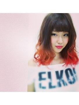 大賀 ヘアビューティ(Oga Hair beauty)ピンク×グラデーションカラー
